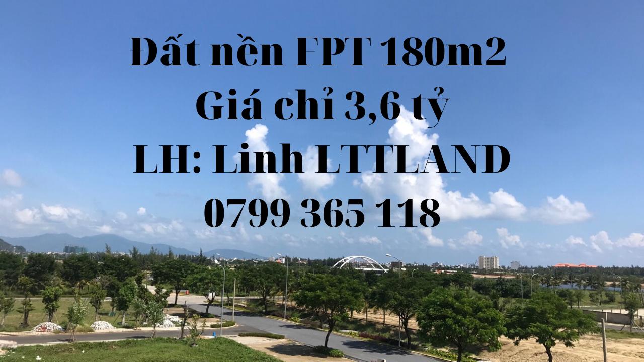 Chính chủ cần tiền bán gấp đất 180m2 FPT City Đà Nẵng