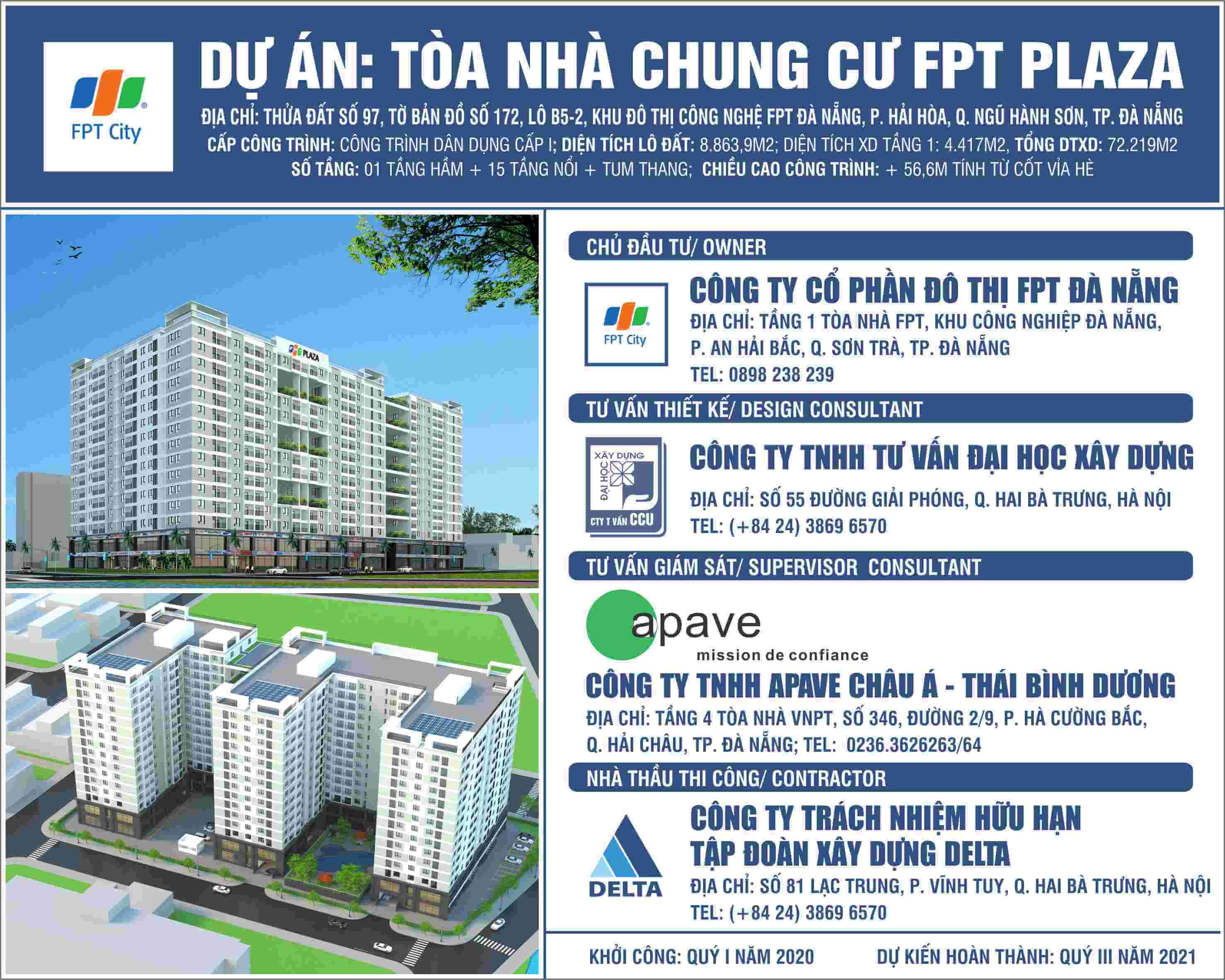 Chủ đầu tư dự án FPT Plaza