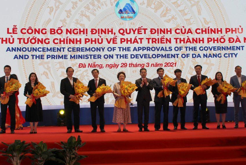 Lễ công bố các Nghị định, Quyết định của Chính phủ về phát triển Thành phố Đà Nẵng