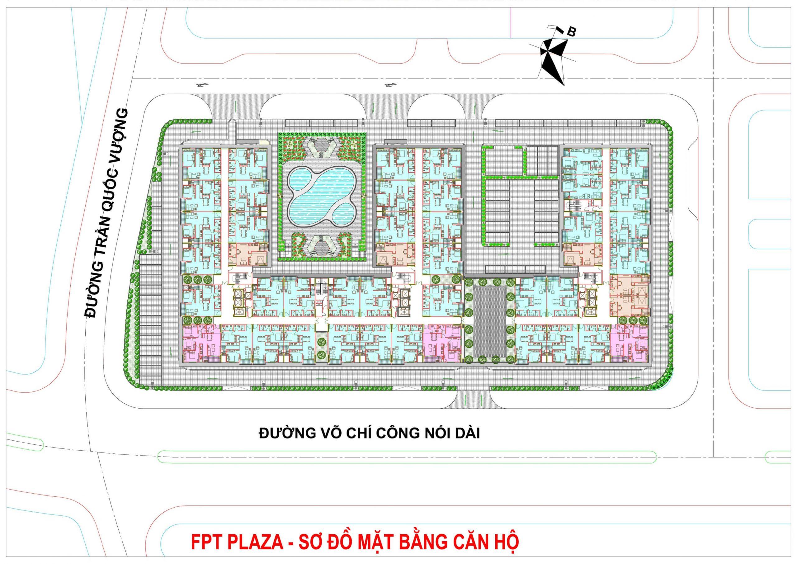 FPT Plaza 1 - Mặt bằng tổng thể