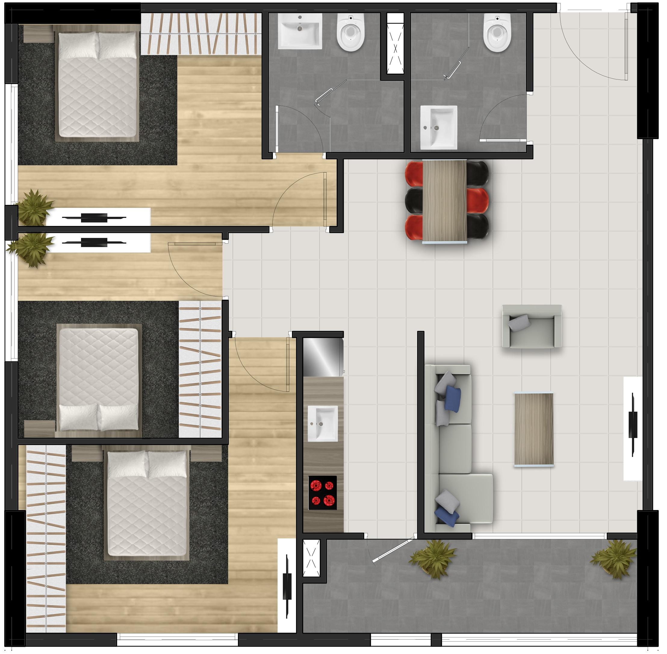 Căn 3 phòng ngủ - FPT Plaza 1 FPT City Đà Nẵng