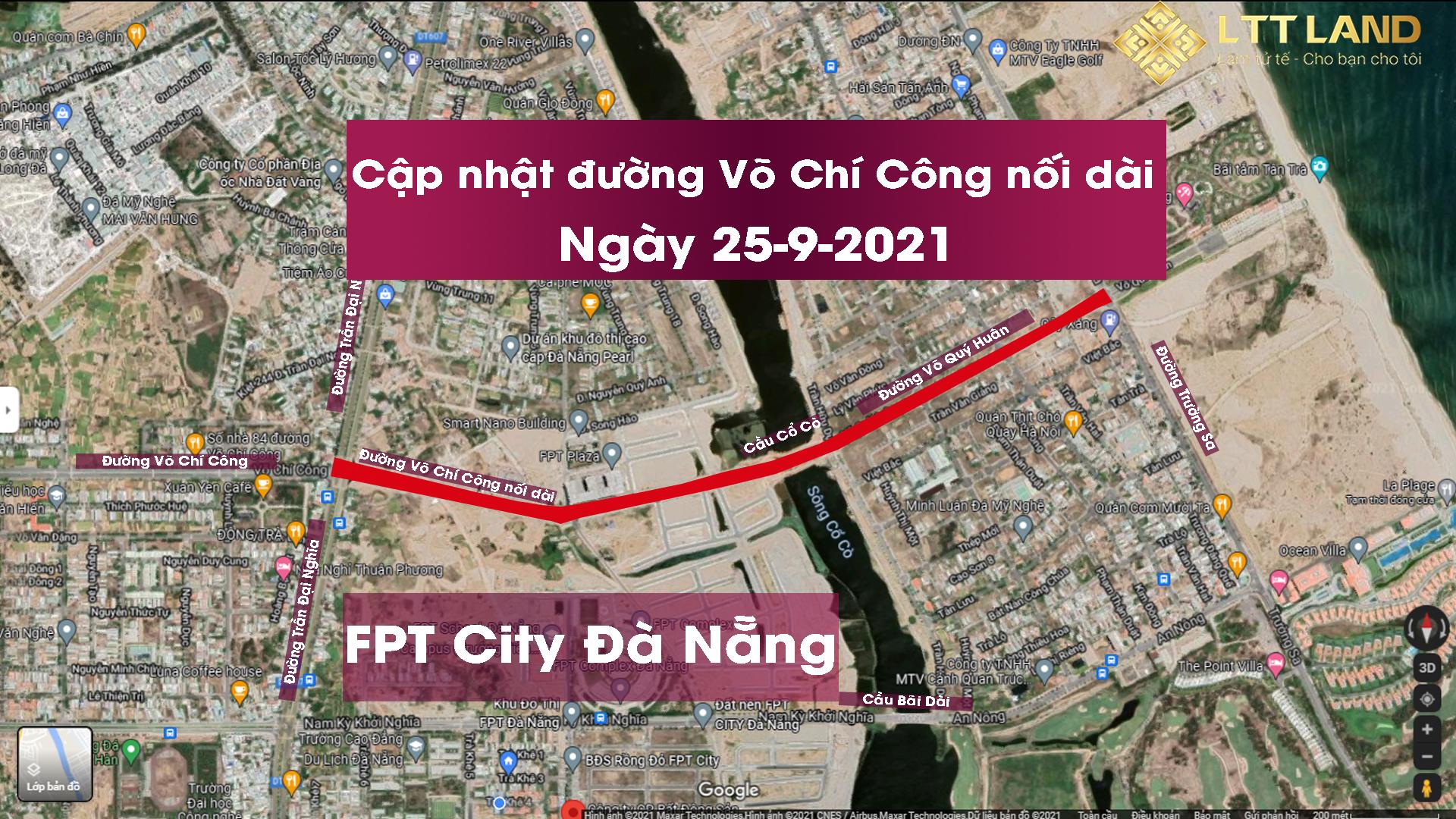 Cập nhật đường Võ Chí Công nối dài 25-9-2021